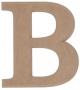 unpainted wooden letter B