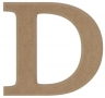 unpainted wooden letter D