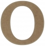 unpainted wooden letter O