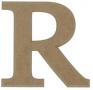 unpainted wooden letter R