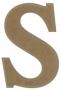 unpainted wooden letter S