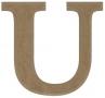 unpainted wooden letter U