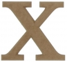 unpainted wooden letter X