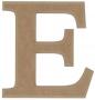 unpainted wooden letter E