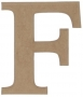 unpainted wooden letter F
