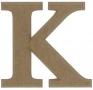 unpainted wooden letter K
