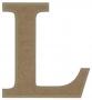 unpainted wooden letter L