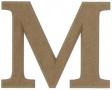 unpainted wooden letter M