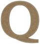 unpainted wooden letter Q