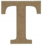 unpainted wooden letter T