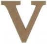 unpainted wooden letter V