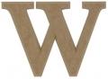 unpainted wooden letter W