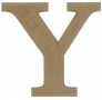unpainted wooden letter Y