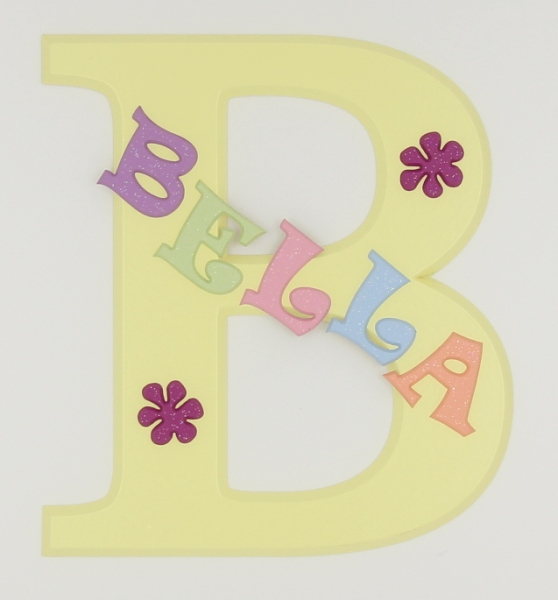 painted wooden name sign for Bella