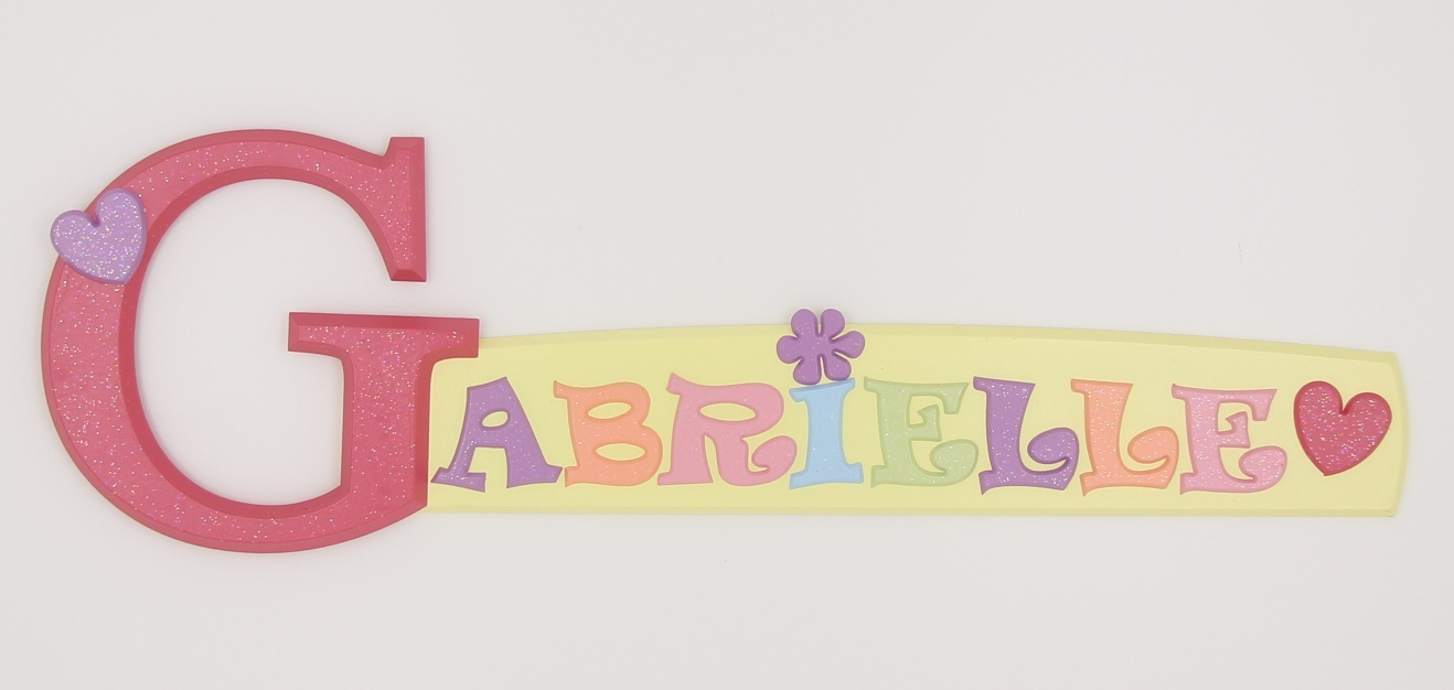 Canadian custom-made wooden name signs and alphabet letters for ...