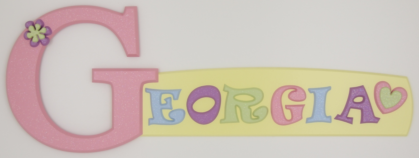 painted wooden name sign for Georgia