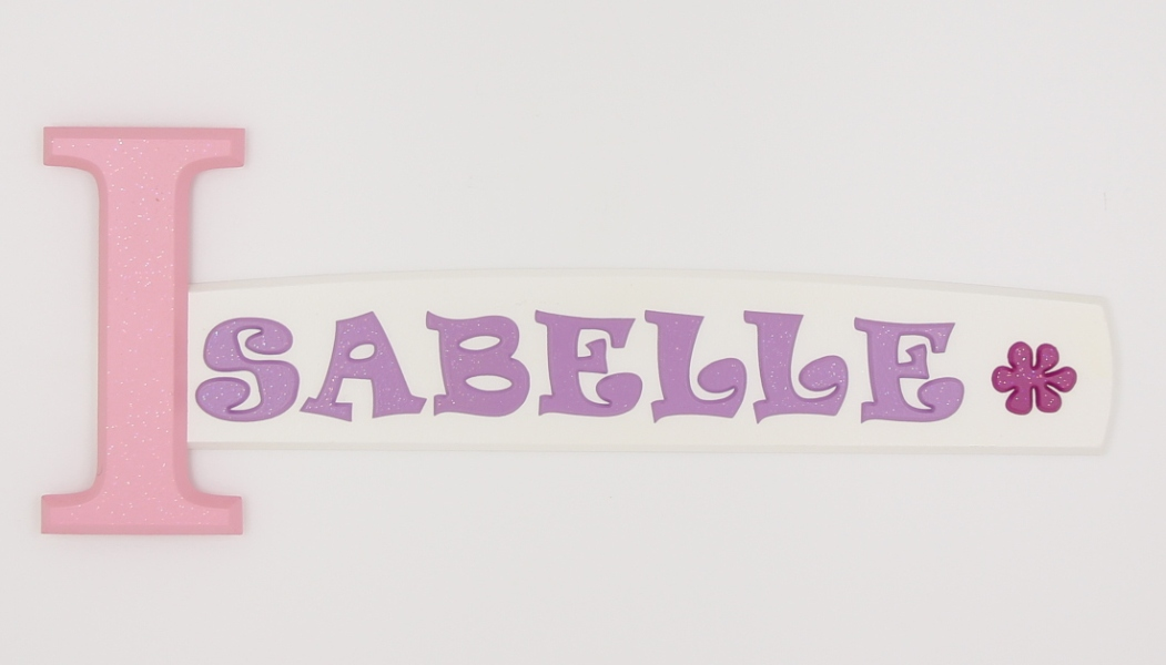 Isabelle 82-3 wooden wall door letter alphabet personalized name sign for kids