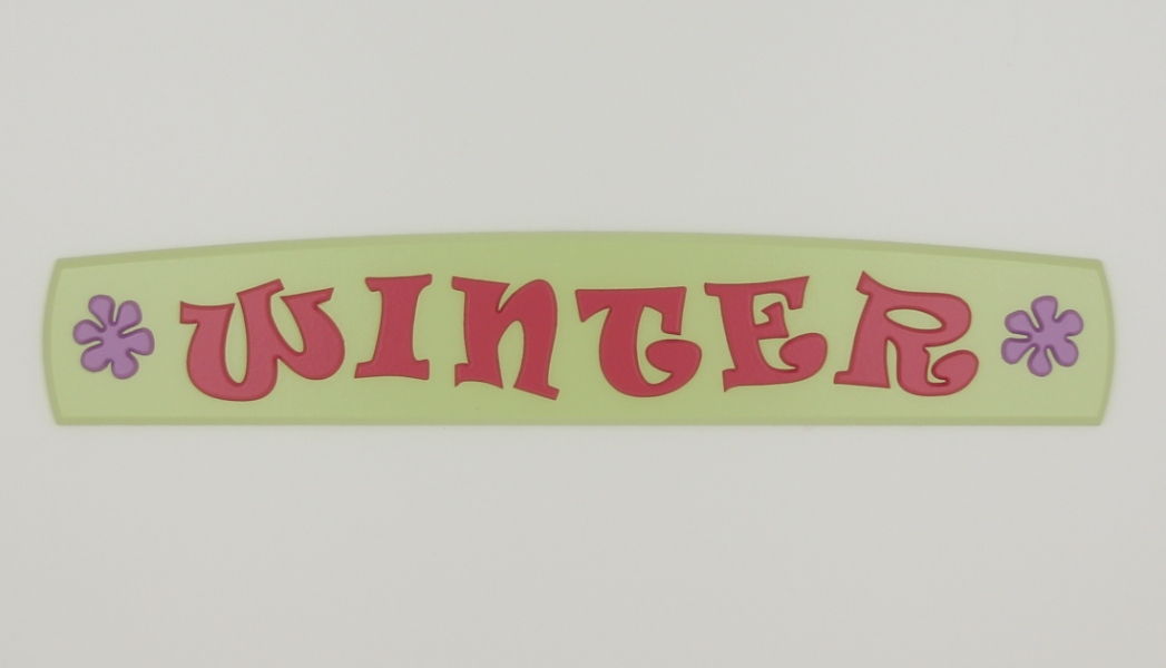 painted wooden name sign for Winter