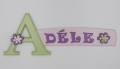 painted wooden name sign for Adele