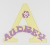 painted wooden name sign for Audrey