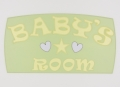 painted wooden name sign for Baby's nursery