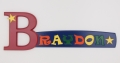 painted wooden name sign for Braydon