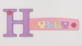 painted wooden name sign for Hayley
