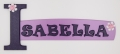 painted wooden name sign for Isabella