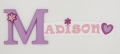 painted wooden name sign for Madison