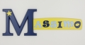 painted wooden name sign for Massimo