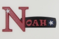 painted wooden name sign for Noah