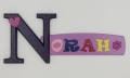 painted wooden name sign for Norah