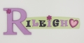 painted wooden name sign for Rileigh