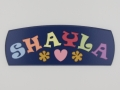 painted wooden name sign for Shayla