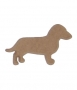 unpainted wooden dog
