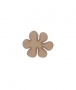 unpainted wooden flower