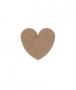 unpainted wooden heart