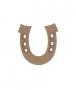 unpainted wooden horseshoe