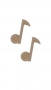 unpainted wooden music note