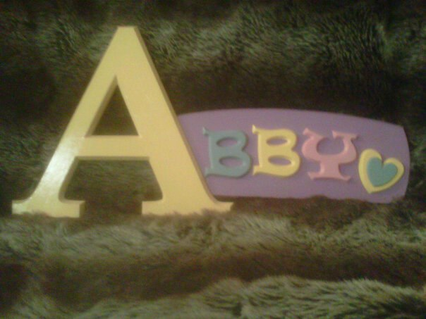 DIY wood craft letters for Abby & Photo galleries of our name signs and wooden letters.