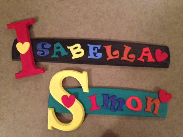 diy wood craft letters for isabella and simon diy wood craft letters for isabella and simon