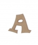 unpainted wooden letter A