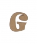 unpainted wooden letter G