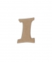 unpainted wooden letter I