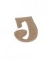 unpainted wooden letter J
