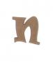 unpainted wooden letter N