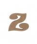 unpainted wooden letter Z