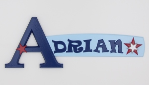 personalized wooden name sign for Adrian